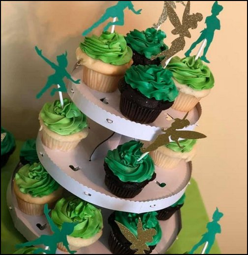 neverland party peter pa cupcake topper tinkerbell cupcake topper