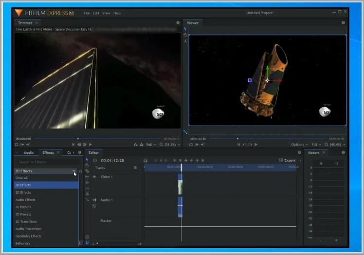 HitFilm  Express :  Επεξεργασία βίντεο  με επαγγελματικά οπτικά εφέ