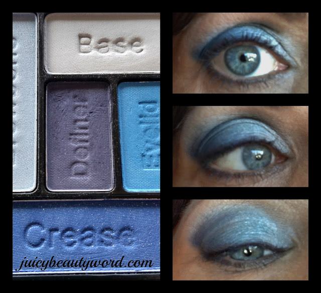 wet n wild blue eye shadow collage