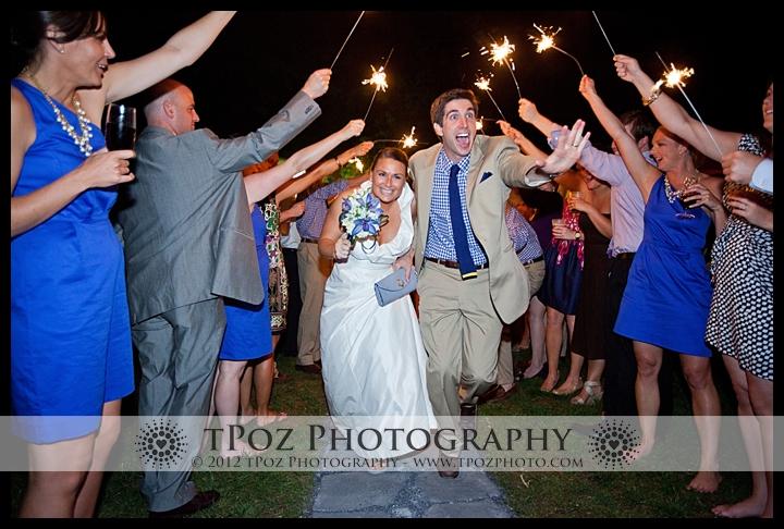 Sparkler Exit at a Port Annapolis Marina Wedding