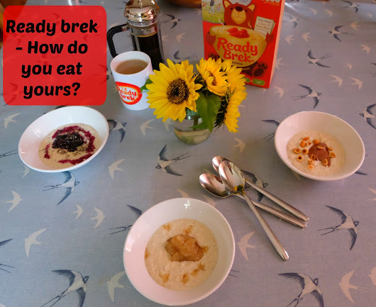 Spending family time together at breakfast with Ready Brek
