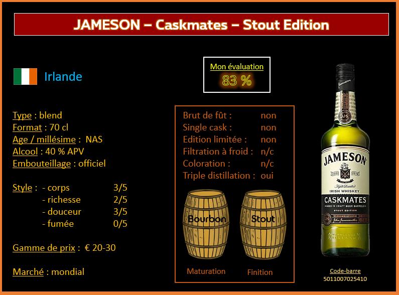 Review #758 : Jameson – Caskmates – Stout Edition