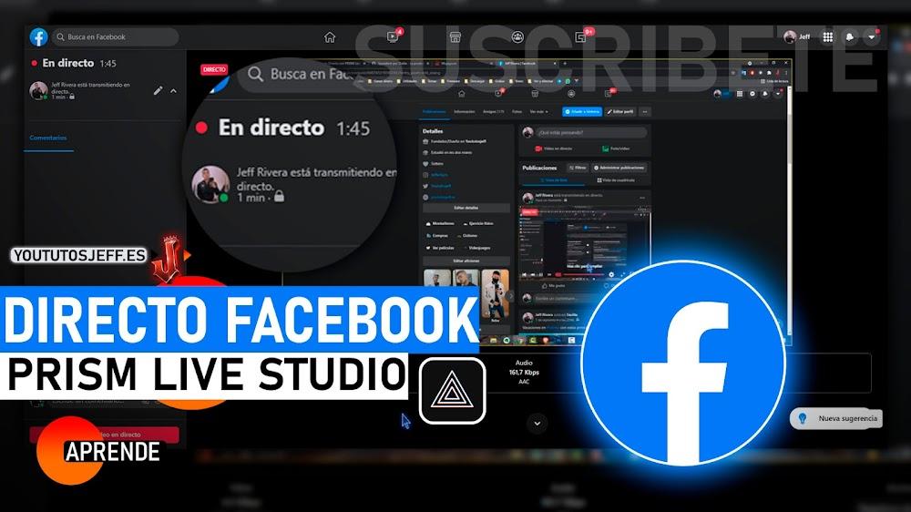 Hacer DIRECTO en FACEBOOK con PRISM Live Studio