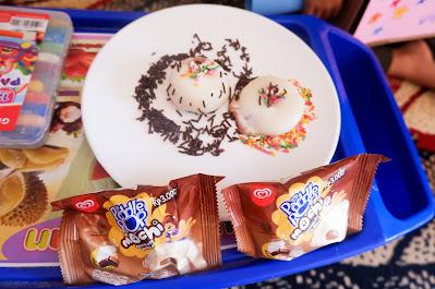 kreasi paddle pop mochi dengan meses