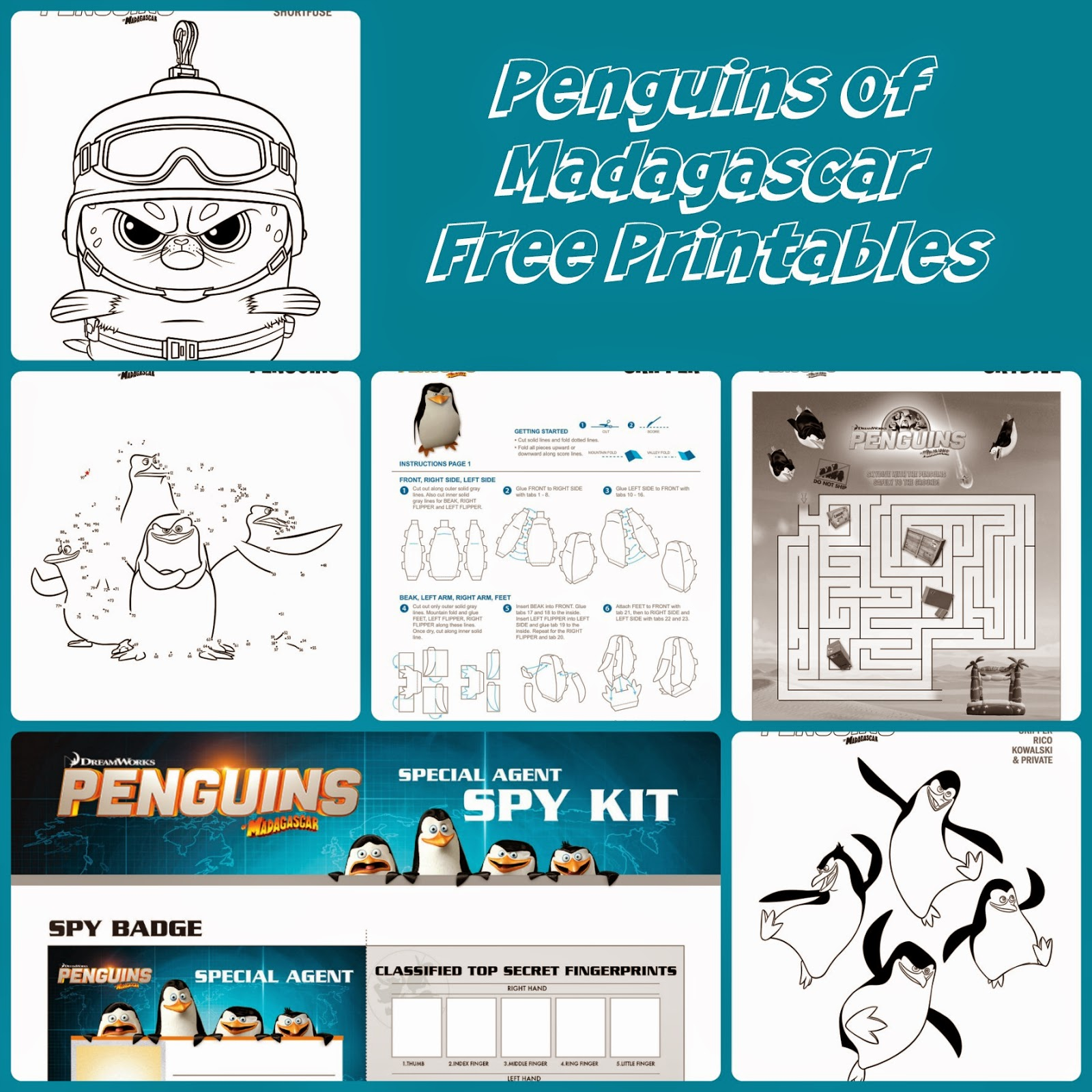 Love Juliebug Penguins Of Madagascar Blu Ray Combo Pack Giveaway Free Printables
