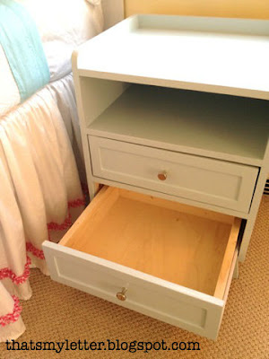 diy mod nightstand with 2 drawers and open shelf