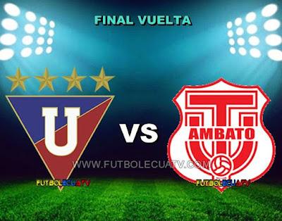 Liga de Quito vs Técnico Universitario - Domingo 17 de Diciembre del 2017 - Partido Repechaje Vuelta