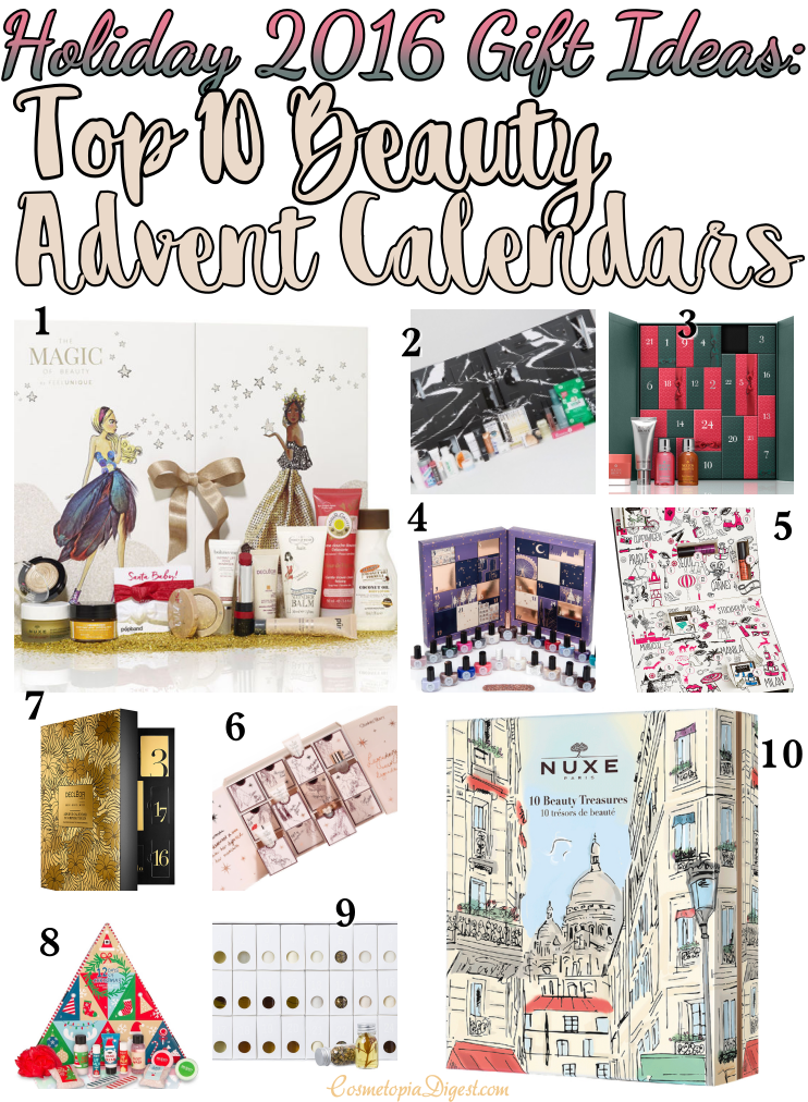 Here are the best 10 Beauty Advent Calendars for Holiday 2016; they ship worldwide.