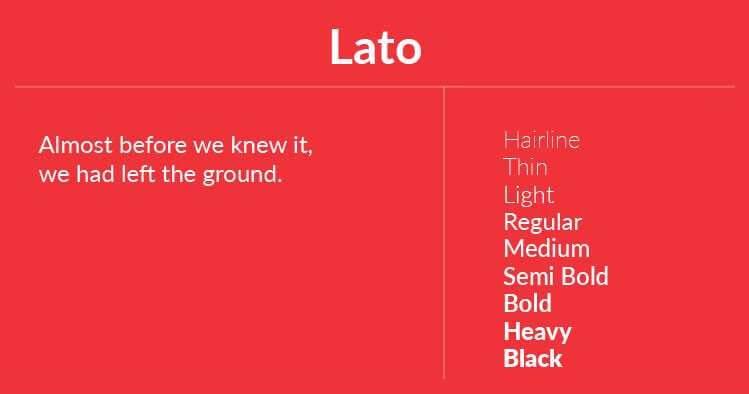 Font Terbaik Untuk Website Salah Satunya Adalah Lato