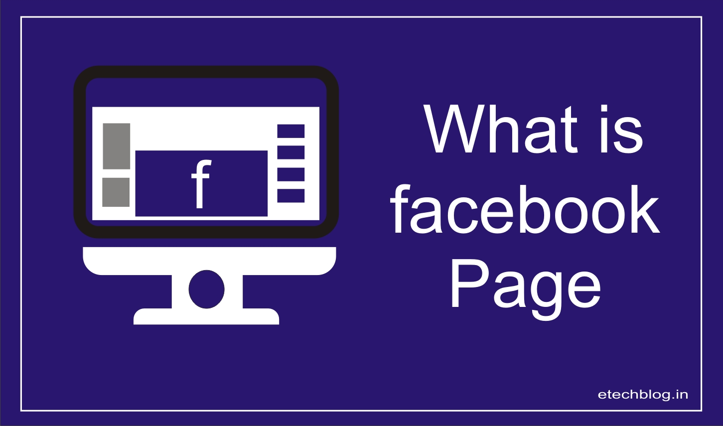 What is Facebook  Page? (compare with Facebook profile)