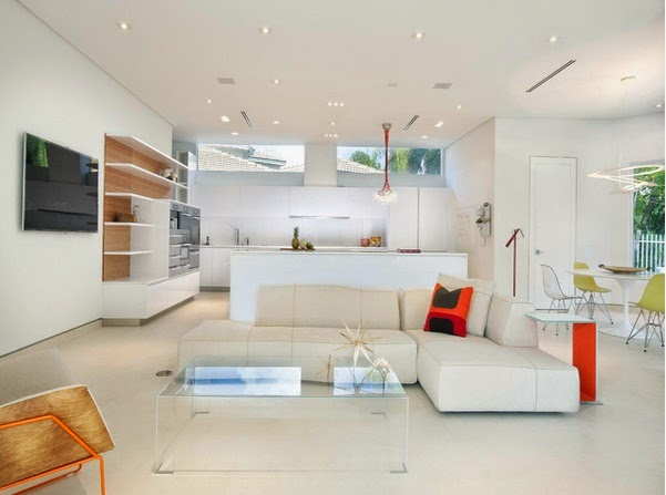 D coration salon ouvert sur la cuisine d cor de maison - Cuisine blanche ouverte sur salon ...