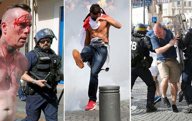 La violencia extrema se apodera  de la Eurocopa de Fútbol 2016