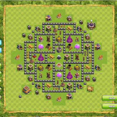 Base Clash of Clans Town Hall 8