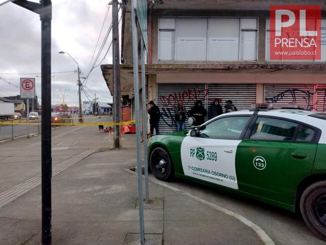 Osorno: hombre es encontrado sin vida en la vía pública