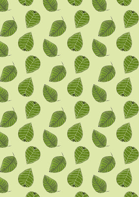 Green Leaves available in an A4 Printable Pattern