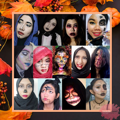 Spooky Month Beacuse its October!! Halloween Makeup Collaboration with Beautiesquad - Jack O' Lantern by Demia Kamil