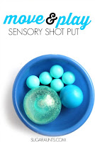 Snowball Shot put Sensory Play for Kids