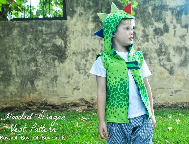 Hooded Dragon Vest Free Pattern Beatnik Kids