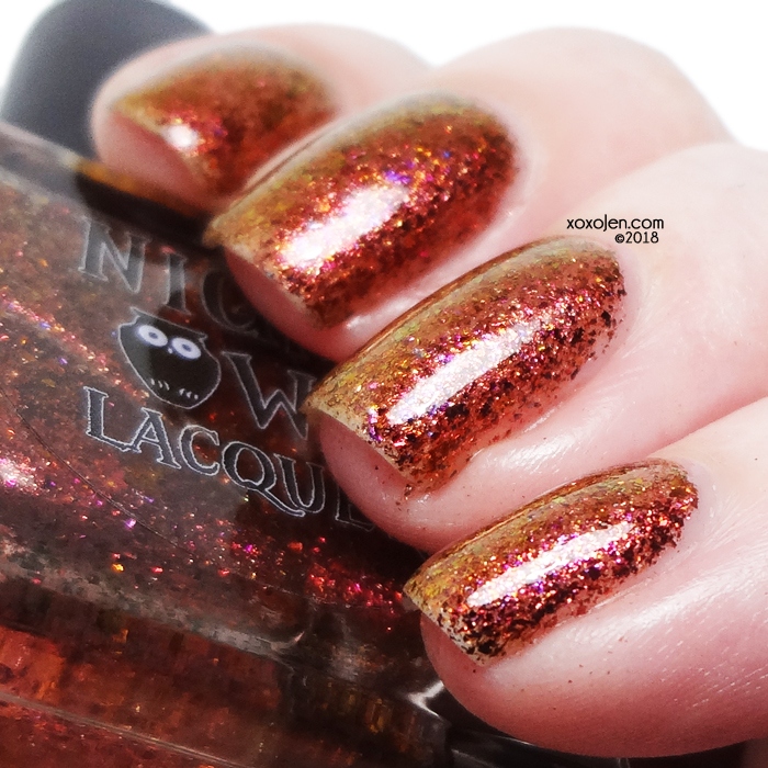 xoxoJen's swatch of Night Owl Lacquer Rustling Leaves