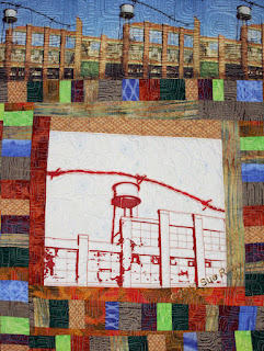 Silk Mill #1, detail, by Sue Reno