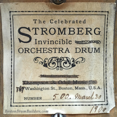 1906 Stromberg Drum Label