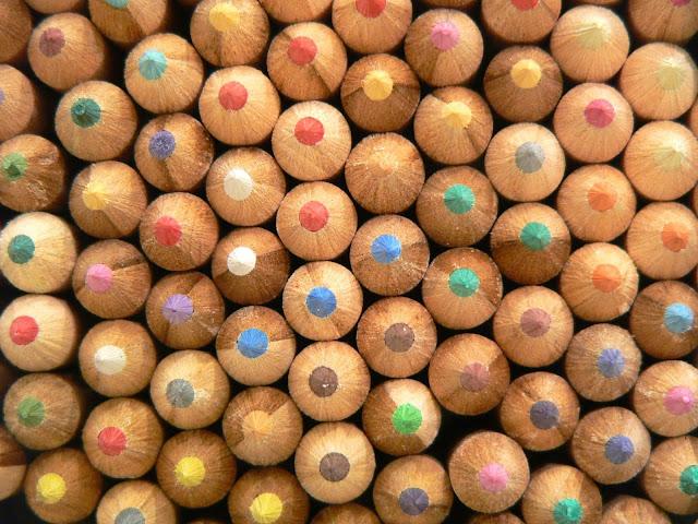 texture matite colorate