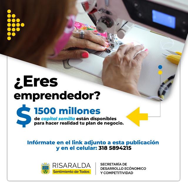 $1500 millones disponibles para emprendedores en Risaralda