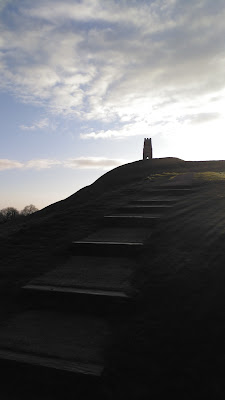 Walking up Glastonbury Tor 9th April 2016