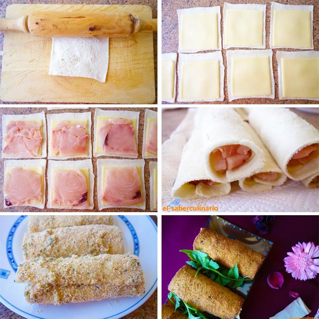 Cómo hacer flamenquines de pescado y queso con pan de molde