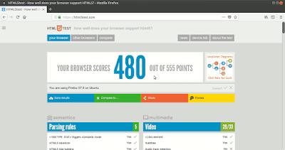HTML5TEST Firefox acelerado