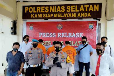 Tiga Tersangka Mengaku Anggota KPK Dan LSM P2KN Akhirnya Dibekuk Satreskrim Nias Selatan