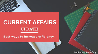 Current Affairs Updates - 11 January 2018