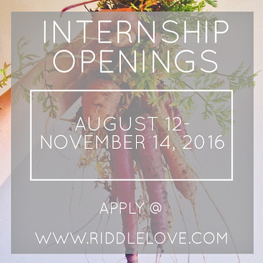 riddlelove: Internship Opportunity