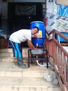 Pemkab Labuhanbatu Sediakan Pencuci Tangan Dipasar Glugur