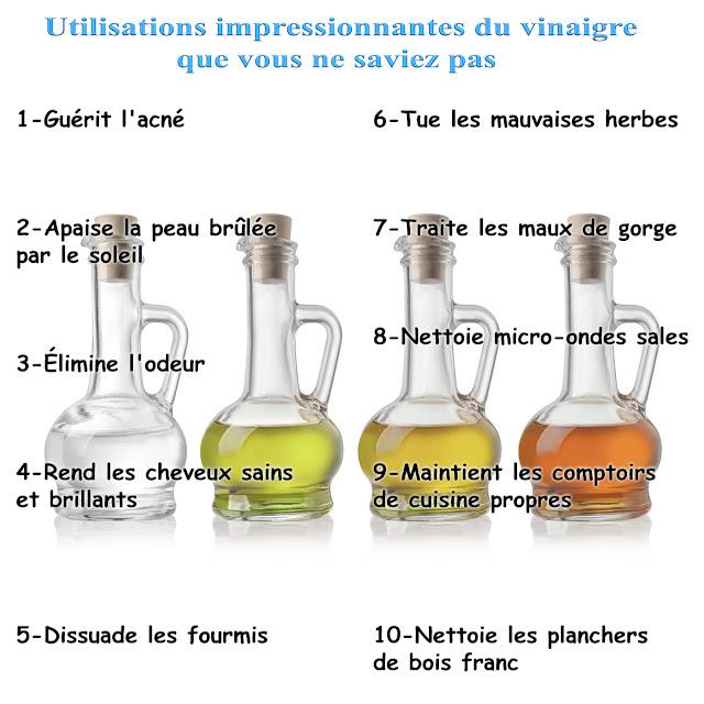 10 Utilisations impressionnantes du vinaigre que vous ne saviez pas