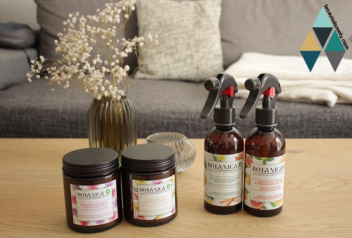 avis spray parfumé naturel botanica airwick