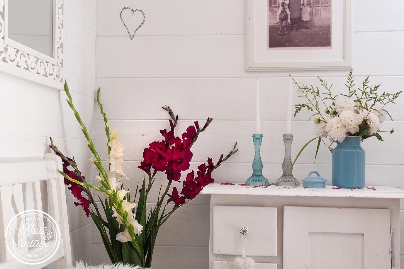 Gladiolen wirken imposant und verändern einen Raum.