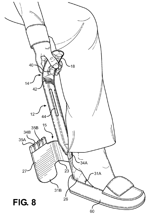 U.S. Patent Number 8,919,620 - Figure 8: Bonus Shoehorn!
