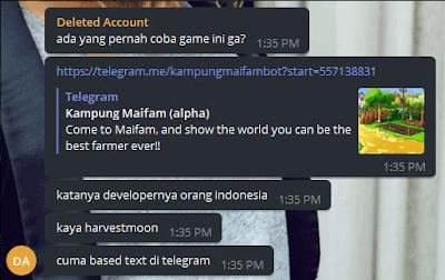 spam karena bot penghasil dolar telegram
