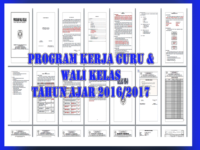 Download Contoh File Program Kerja Guru/Wali Kelas 2017/2018