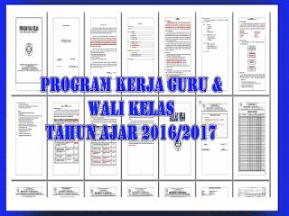 Contoh Program Kerja Guru dan Wali kelas 2016/2017 | Unduh Info Guru