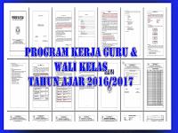 Unduh Contoh Program Kerja Guru dan Wali kelas 2016/2017