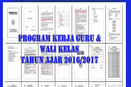 Contoh Program Kerja Guru dan Wali kelas 2016/2017