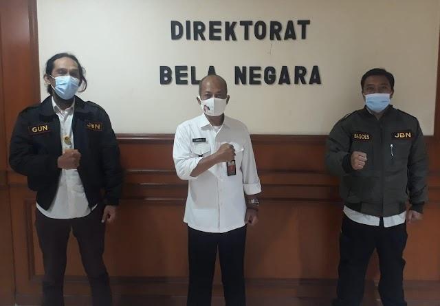 Pendiri Jurnalis Bela Negara Kunjungi Ditjen Pothan Kemhan RI