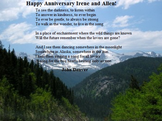 41st Wedding Anniversary Gift: Welcome To Blue Mountain Road: Happy 41st Anniversary To