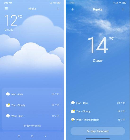 weather MIUI 12