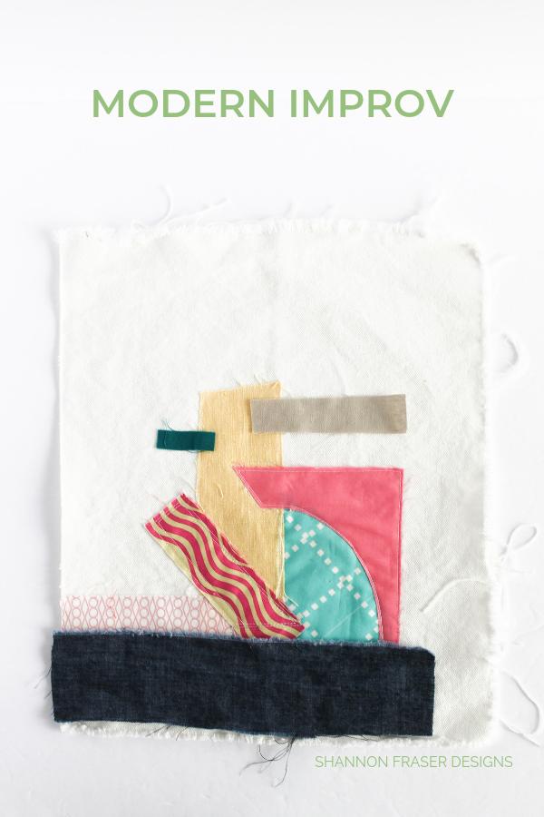Modern improv quilting - fiber art at it's best! | Q3 Finish-a-Long 2019 | Shannon Fraser Designs #textileart
