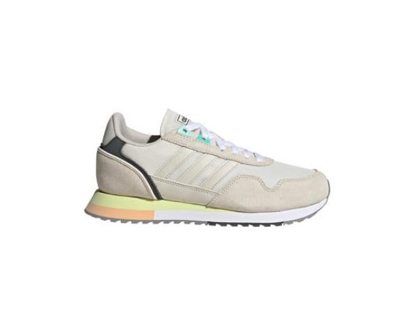 adidas Performance Pantofi cu insertii din piele intoarsa, pentru alergare 8K 2020