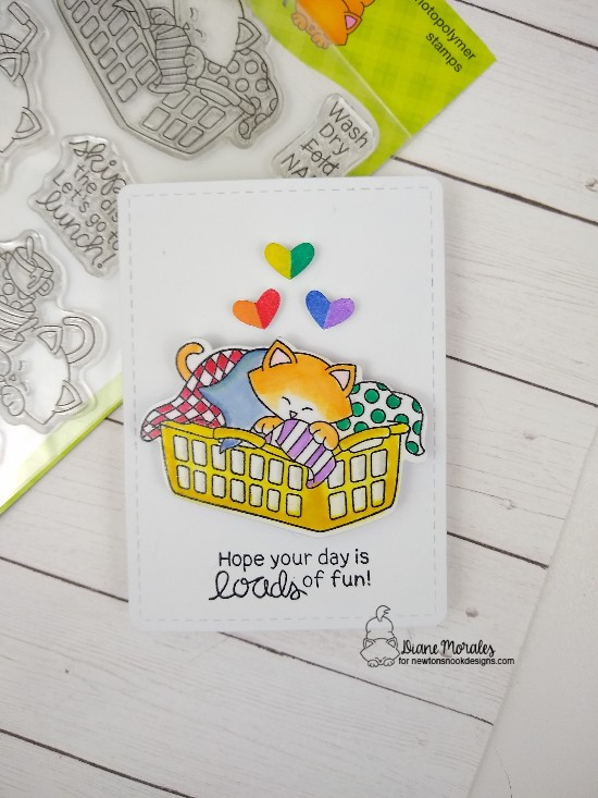 Hope your day is loads of fun by Diane features Newton Cleans Up, Speech Bubbles, and Frames & Flags by Newton's Nook Designs; #newtonsnook