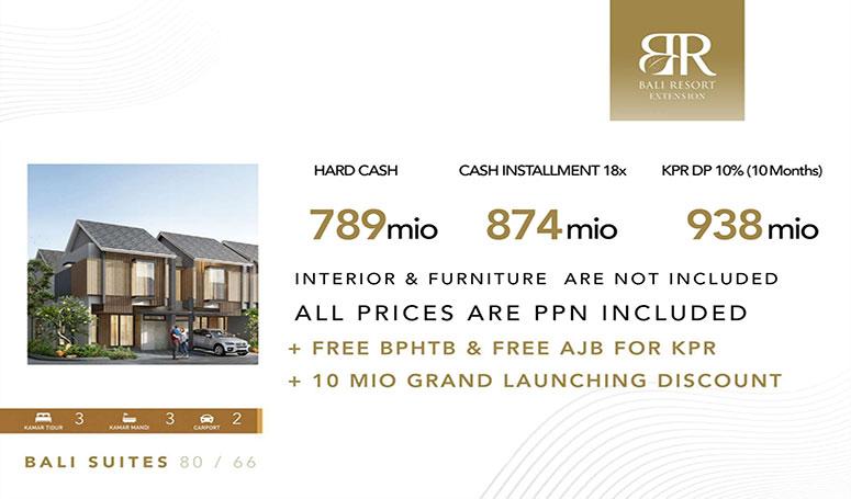 Harga Bali suite Unfurnished bali resort